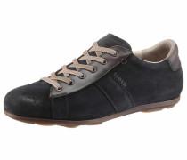 -Sneaker dunkelblau / braunmeliert