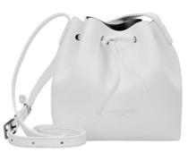 'Pur Smooth Mini Bag' Beutel Umhängetasche Leder 17 cm weiß