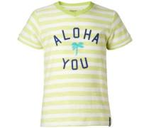 T-shirt 'Fairfield' blau / limone / weiß