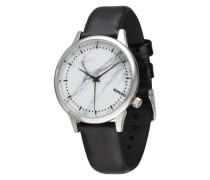 Armbanduhr 'Estelle marble' schwarz / silber