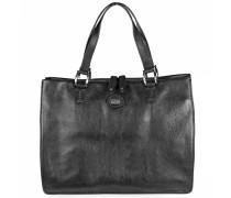 Leder Handtasche 'Saddlery Donna' 35 cm schwarz