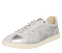 Sneaker in Metallic-Optik silber