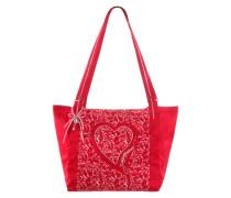 Trachtentasche in glänzender Optik rot