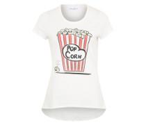 Shirt 'Popcorn' weiß