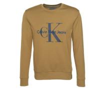Sweatshirt mit Logo-Print 'Holme' oliv