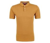 Poloshirt aus Baumwollpiqué senf