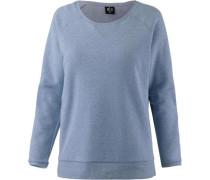 'stay FOR A While' Sweatshirt rauchblau