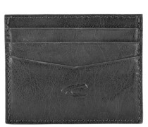 Alaska Kreditkartenetui Leder 10 cm schwarz
