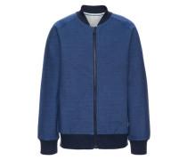 Sweatshirt mit Reißverschluss nitdrori blau