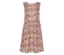 Seidenkleid mit zartem Blütendruck mischfarben