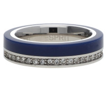 Fingerring Silber/Blau Marin 68 Esrg11565C blau / silber