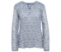 Shirt / Blouse plissierte Bluse blau
