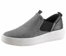 Slip On - Sneaker schwarz / silber / weiß