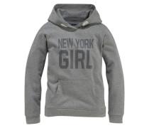 Kapuzensweatshirt für Mädchen grau