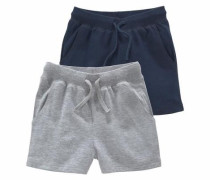 Sweatshorts (Packung 2 tlg.) dunkelblau / graumeliert