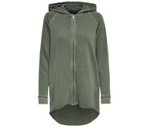 Oversize-Sweatshirt oliv