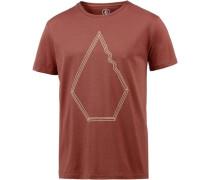 T-Shirt 'Drew' pastellrot