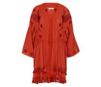 Kimono-Kleid 'Lilian' rot / weinrot