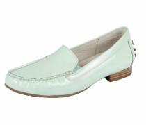 Comfort Slipper aus Lack braun / mint