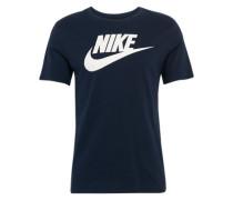 Shirt 'futura' dunkelblau / weiß