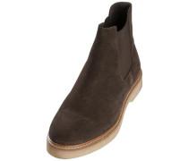 Braune Veloursleder-Stiefel mokka