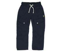 KANZ Kanz Gefütterte Cargo-Hose mit Gummibund Jungen Kinder blau