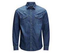 Western-Hemd blau