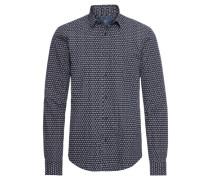 Hemd mit Muster dunkelblau / weiß