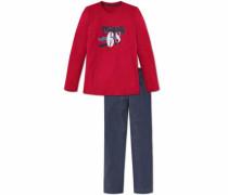 Langer Pyjama blau / rot