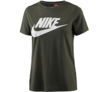T-Shirt 'Essential High Brand Read' dunkelgrün