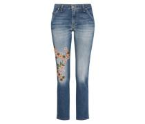 Loosefit Jeans mit Stickerei blue denim