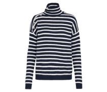 Streifen Pullover grau / weiß