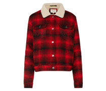 Jacke 'Sherpa Jacket' rot / schwarz