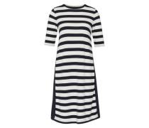 Jeseykleid mit Streifen-Design blau / weiß
