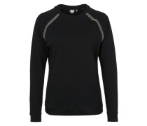 Sweatshirt 'Misty Beads' schwarz