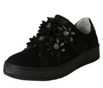 Sneakers mit Blumenverzierung schwarz