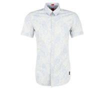 Gemustertes Kurzarmhemd hellblau / weiß