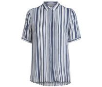 Gestreiftes Hemd marine / weiß