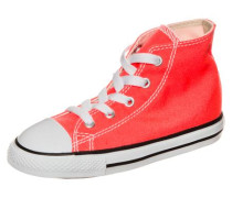 'Chuck Taylor All Star Fresh Colors High' Sneaker Kleinkinder neonrot