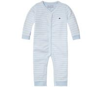 Body 'stripe Jersey Baby Coverall' hellblau