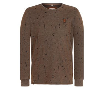 Sweatshirt 'Nordschleife made men' dunkelbraun / schwarz