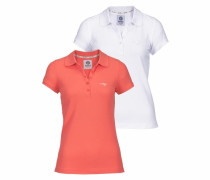 Poloshirt (Packung 2 tlg.) orange / weiß