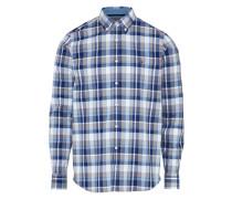 Hemd blau / grau / silber