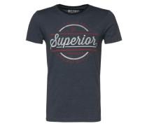 Shirt 'new superior printed tee' blau