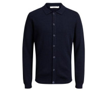 Strick-Cardigan Woll blau