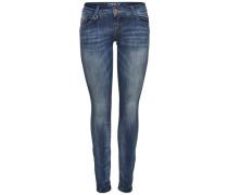 'Coral' Skinny Fit Jeans Superlow blau