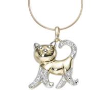 Halsschmuck: Anhänger ohne Kette »Katze« - Sinnbild für Selbstbestimmung und Freiheit! gold