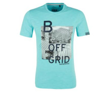 T-Shirt mit Print-Collage jade