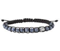 Armband mit Korallen »feather C4201B/90/aj/21« rauchblau / schwarz / silber