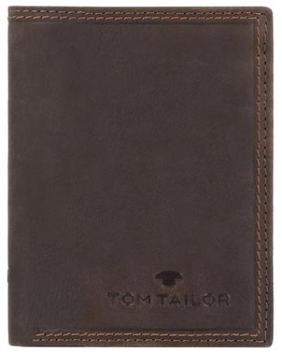 'Terry' Hochformat Geldbörse Leder 10 cm braun